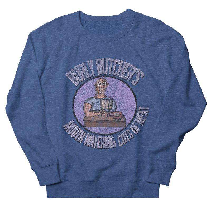 Vintage Burly Butcher's Mouth Watering Cuts of Meat Men's Sweatshirt by ericallen's Artist Shop