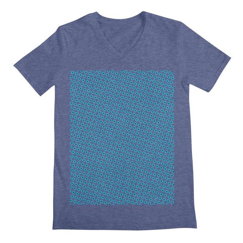 Blue dots pattern Men's V-Neck by ericallen's Artist Shop