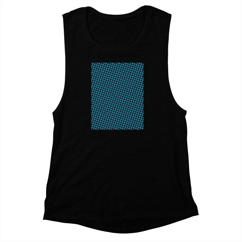 Blue dots pattern Women's Muscle Tank by ericallen's Artist Shop