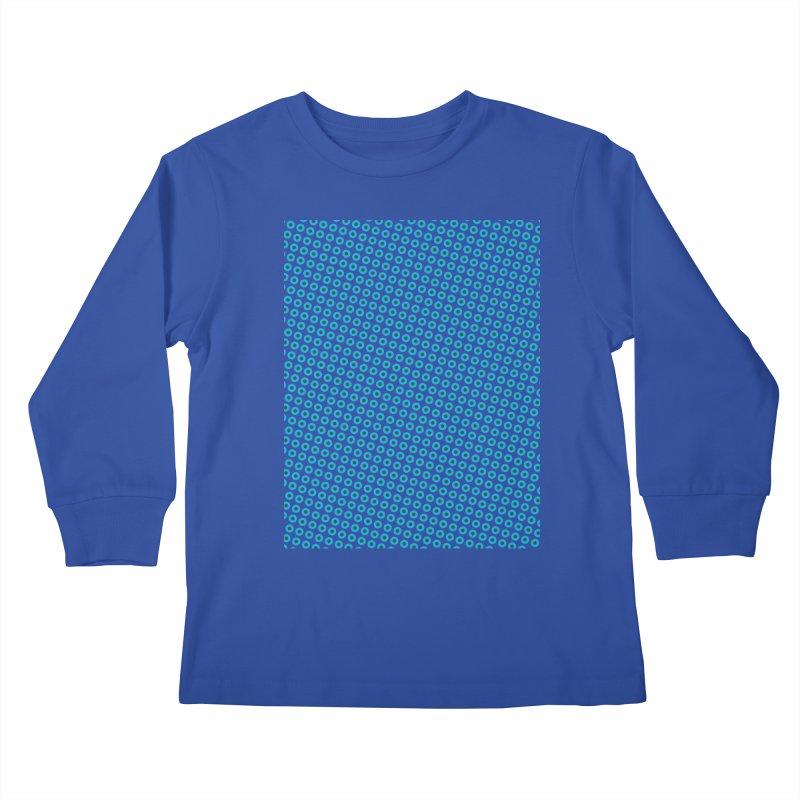 Blue dots pattern Kids Longsleeve T-Shirt by ericallen's Artist Shop