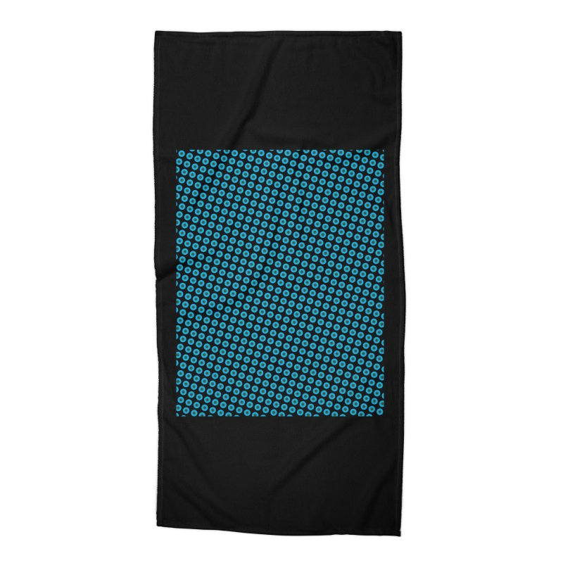 Blue dots pattern Accessories Beach Towel by ericallen's Artist Shop