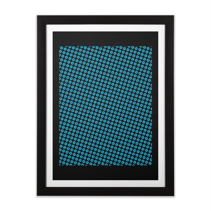 Blue dots pattern Home Framed Fine Art Print by ericallen's Artist Shop