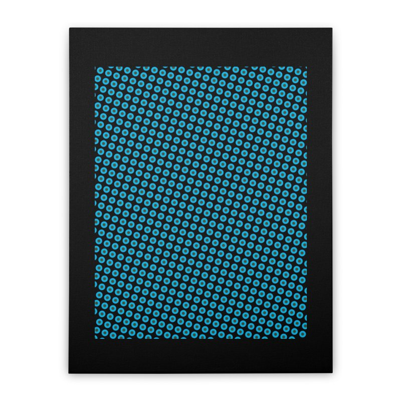 Blue dots pattern Home Stretched Canvas by ericallen's Artist Shop