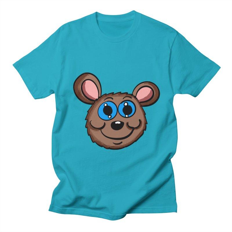 Cartoon Mouse Head in Men's T-Shirt Cyan by ericallen's Artist Shop