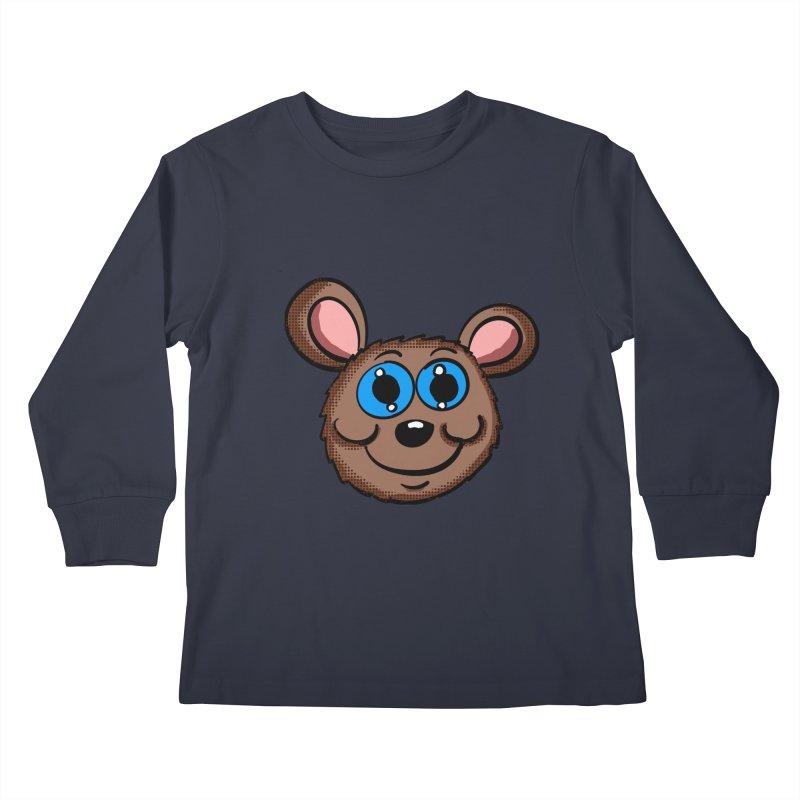 Cartoon Mouse Head Kids Longsleeve T-Shirt by ericallen's Artist Shop