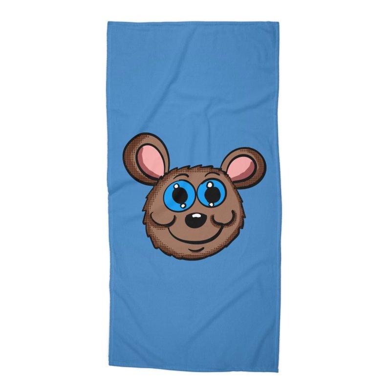 Cartoon Mouse Head Accessories Beach Towel by ericallen's Artist Shop