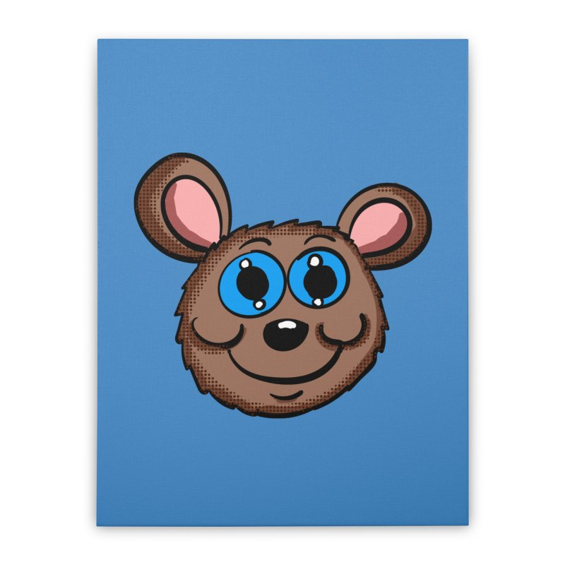 Cartoon Mouse Head Home Stretched Canvas by ericallen's Artist Shop