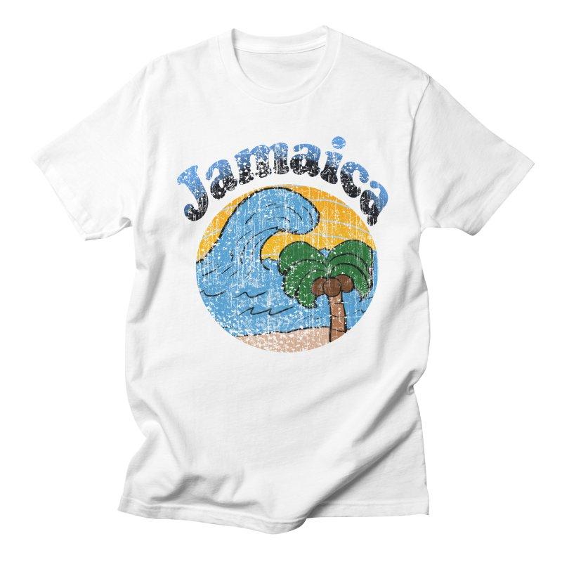 Vintage Jamaica in Men's T-Shirt White by ericallen's Artist Shop