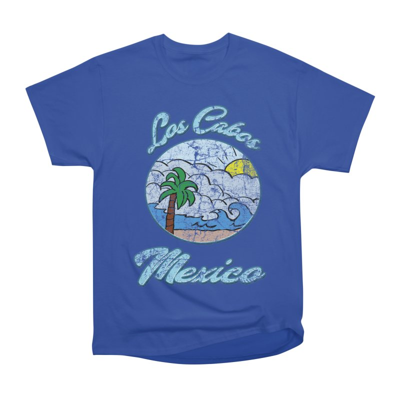 Vintage Los Cabos Mexico Men's Heavyweight T-Shirt by ericallen's Artist Shop