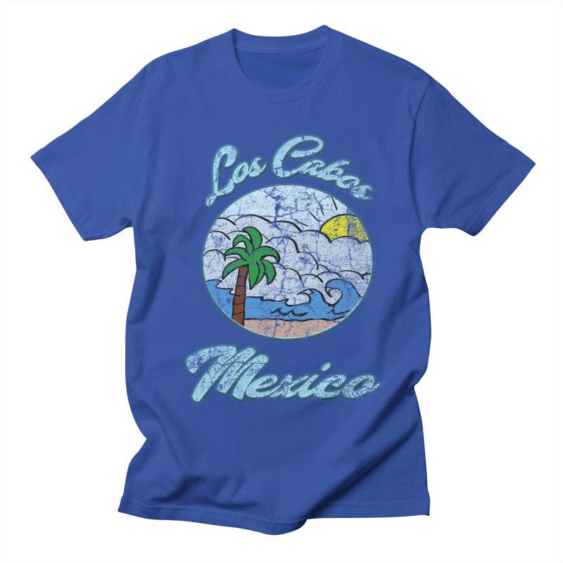 Vintage Los Cabos Mexico in Men's T-Shirt Royal Blue by ericallen's Artist Shop