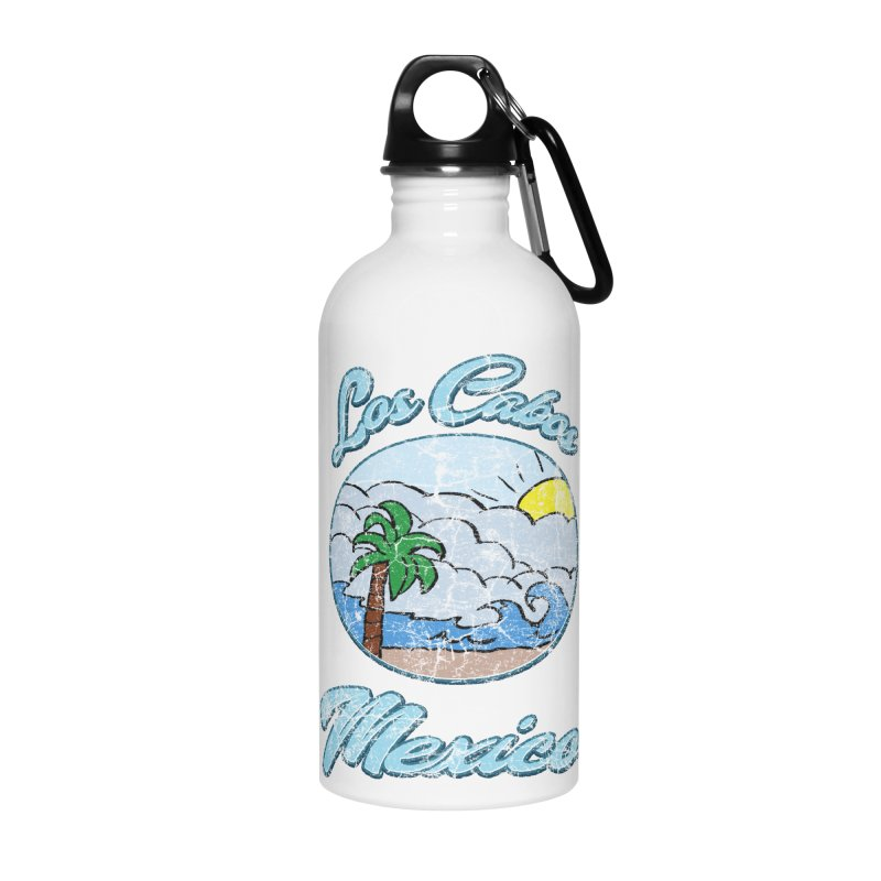Vintage Los Cabos Mexico Accessories Water Bottle by ericallen's Artist Shop