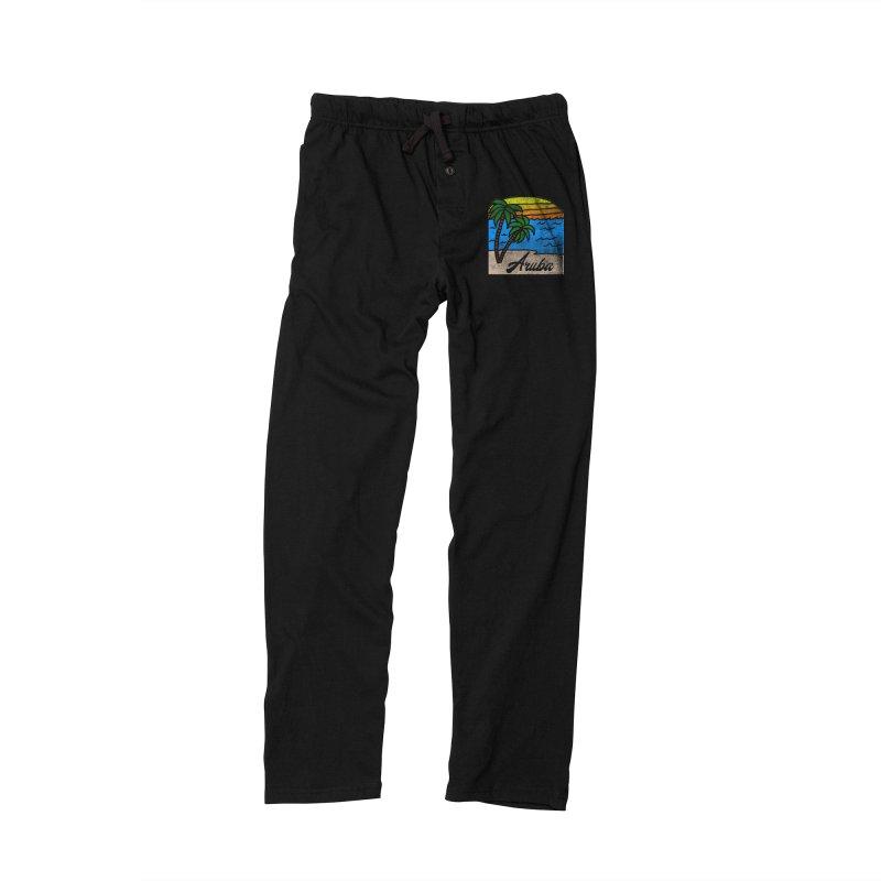 Vintage Aruba Graphic 1 Men's Lounge Pants by ericallen's Artist Shop