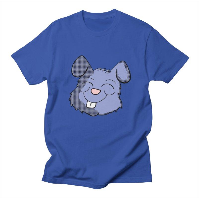 Happy Blue Bunny Head Men's T-Shirt by ericallen's Artist Shop