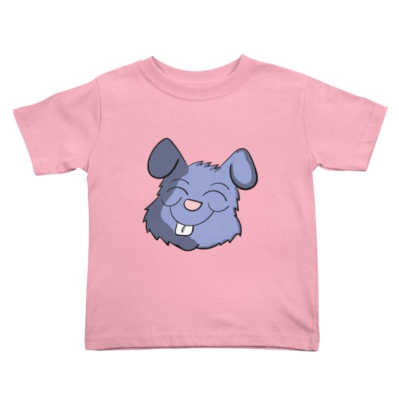 Happy Blue Bunny Head Kids Toddler T-Shirt by ericallen's Artist Shop