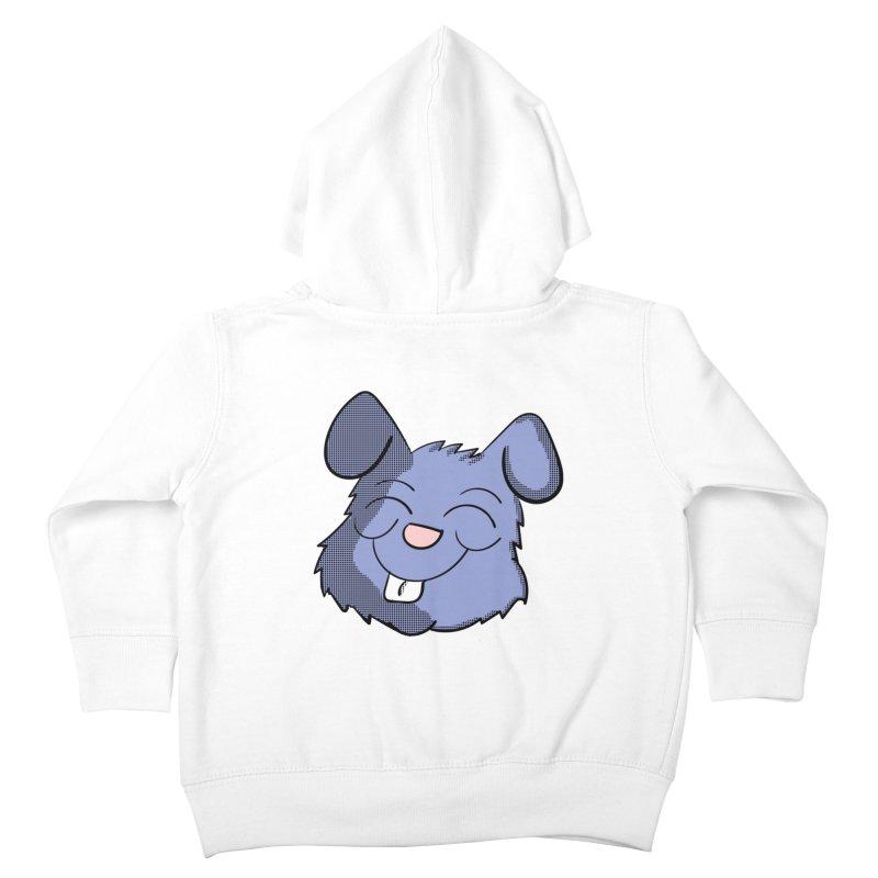 Happy Blue Bunny Head Kids Toddler Zip-Up Hoody by ericallen's Artist Shop