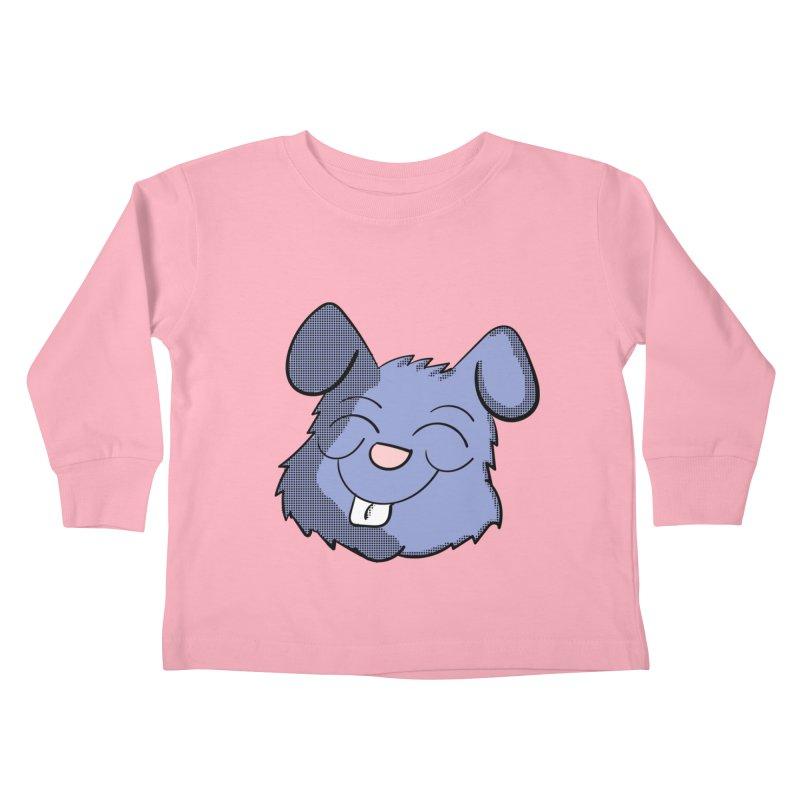Happy Blue Bunny Head Kids Toddler Longsleeve T-Shirt by ericallen's Artist Shop