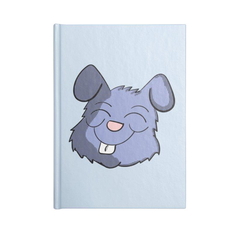 Happy Blue Bunny Head Accessories Notebook by ericallen's Artist Shop