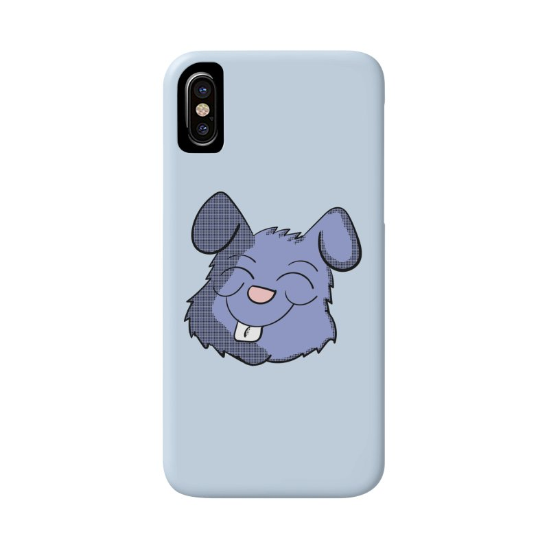 Happy Blue Bunny Head Accessories Phone Case by ericallen's Artist Shop