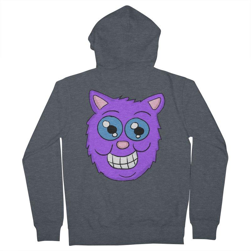 Grinning Purple Cat face Women's Zip-Up Hoody by ericallen's Artist Shop