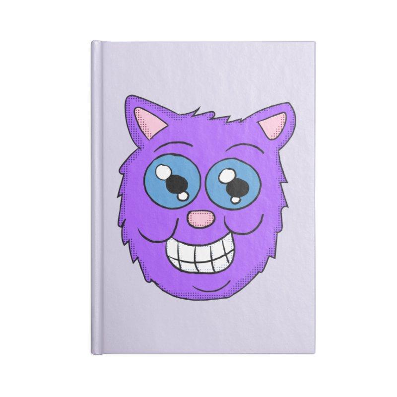 Grinning Purple Cat face Accessories Notebook by ericallen's Artist Shop
