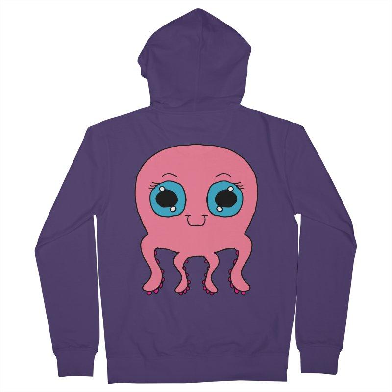 Chibi Pink Octopus Women's Zip-Up Hoody by ericallen's Artist Shop
