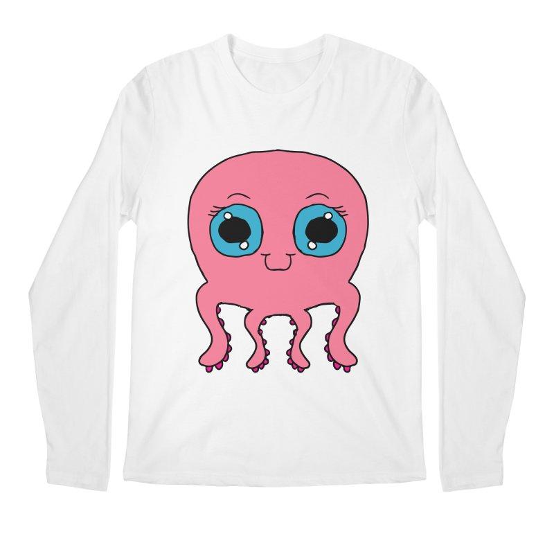 Chibi Pink Octopus Men's Longsleeve T-Shirt by ericallen's Artist Shop