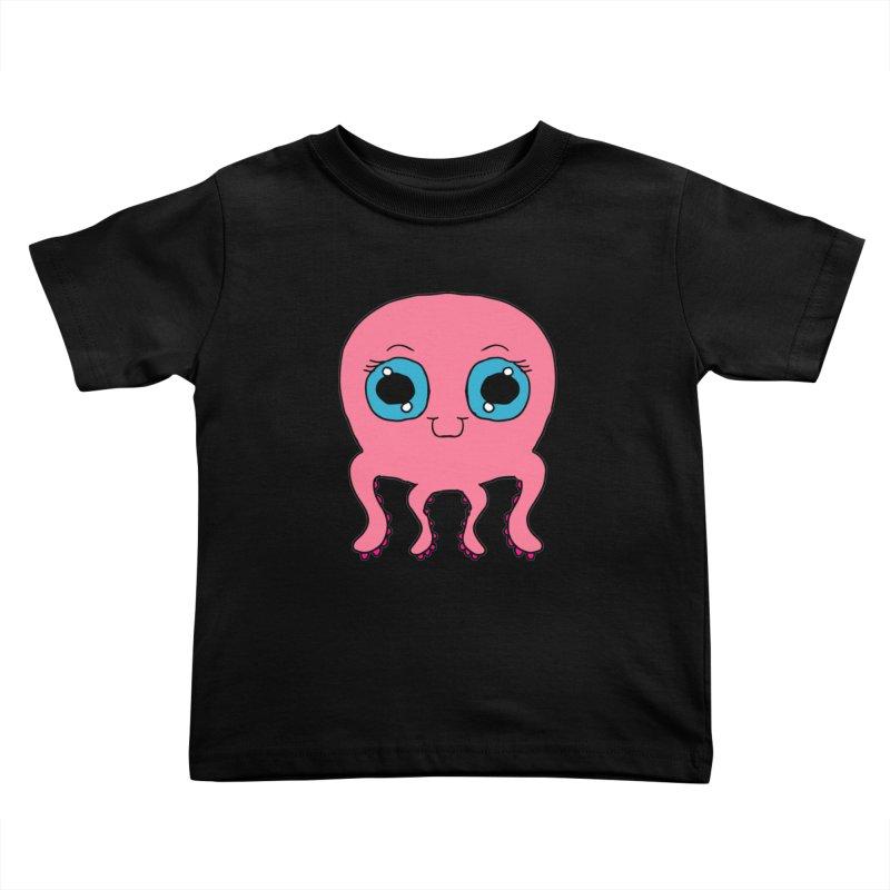 Chibi Pink Octopus Kids Toddler T-Shirt by ericallen's Artist Shop