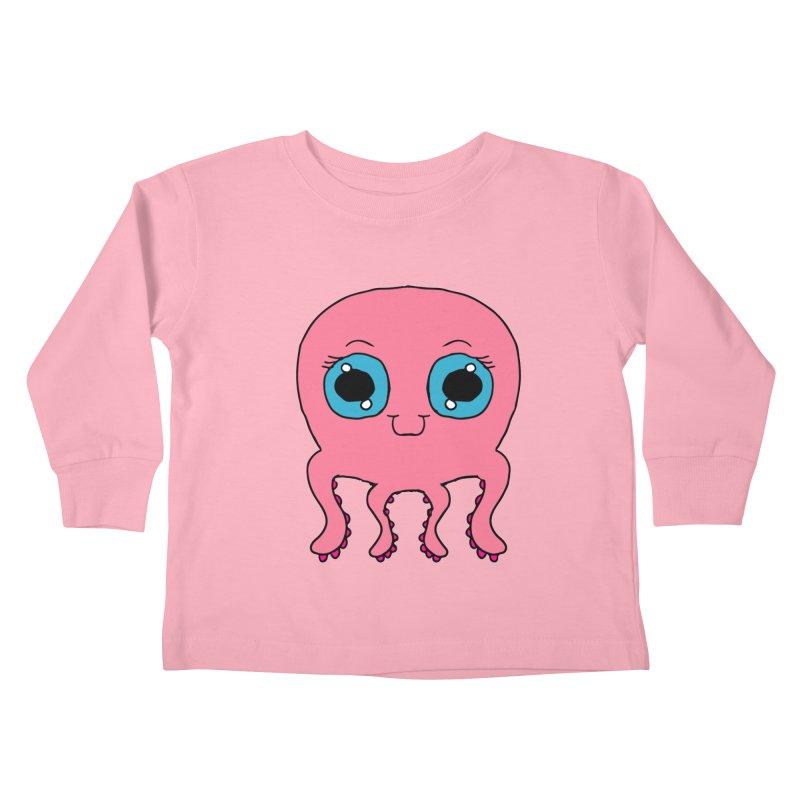 Chibi Pink Octopus Kids Toddler Longsleeve T-Shirt by ericallen's Artist Shop