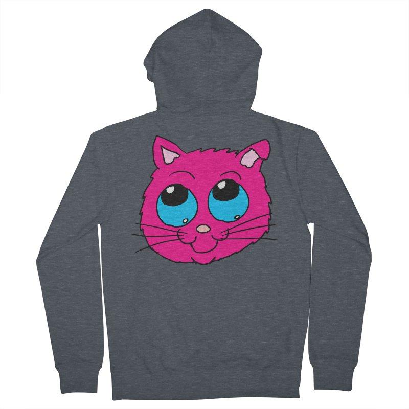 Pink Cute Kitty Head Women's Zip-Up Hoody by ericallen's Artist Shop