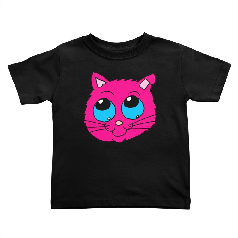 Pink Cute Kitty Head Kids Toddler T-Shirt by ericallen's Artist Shop