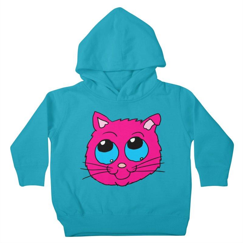 Pink Cute Kitty Head Kids Toddler Pullover Hoody by ericallen's Artist Shop