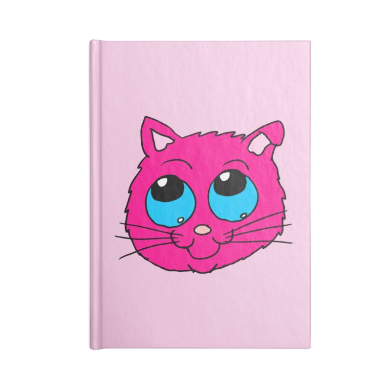 Pink Cute Kitty Head Accessories Notebook by ericallen's Artist Shop