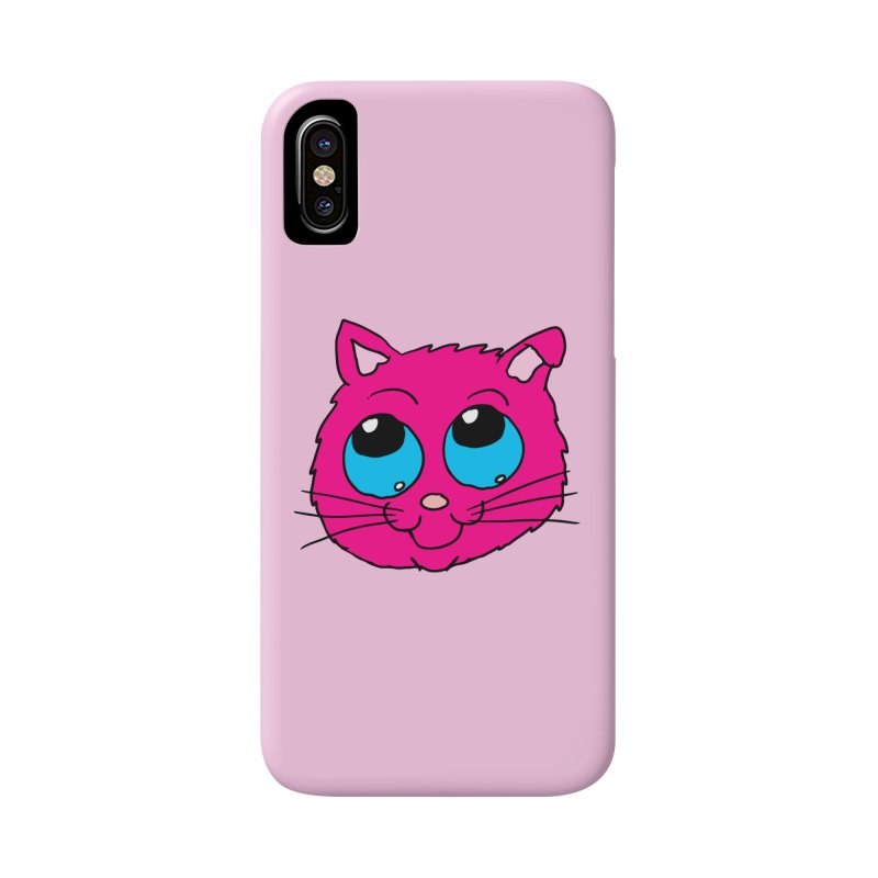 Pink Cute Kitty Head Accessories Phone Case by ericallen's Artist Shop