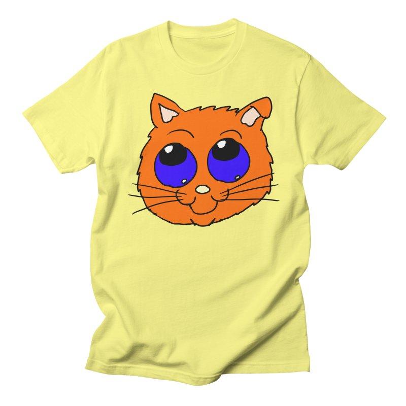 Orange Cute kitty Head Women's Unisex T-Shirt by ericallen's Artist Shop