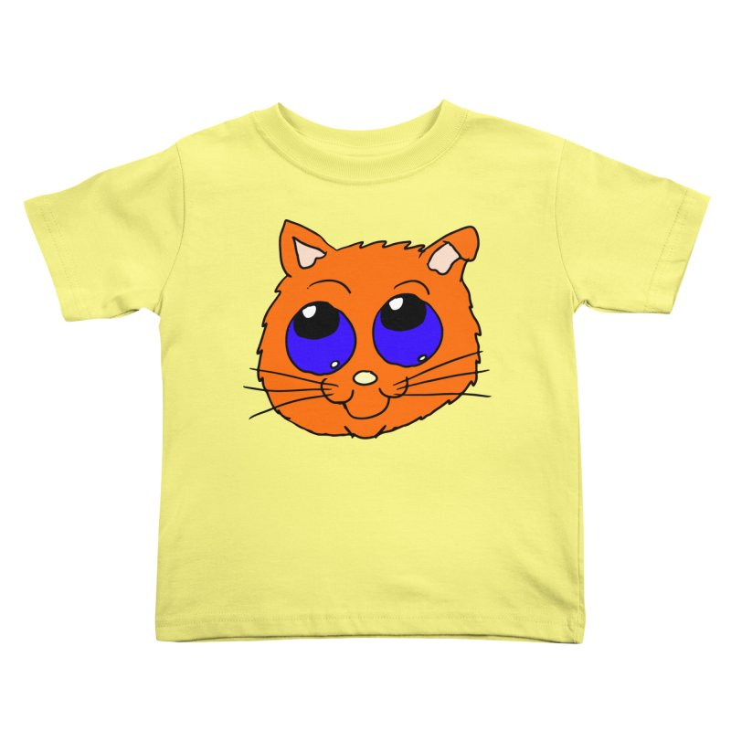 Orange Cute kitty Head Kids Toddler T-Shirt by ericallen's Artist Shop