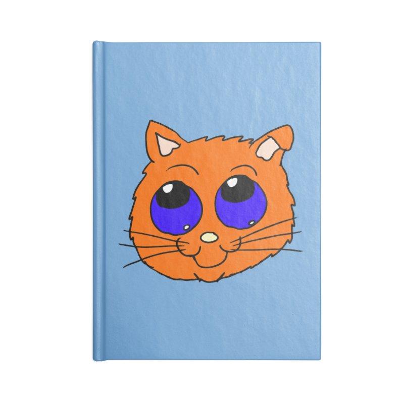 Orange Cute kitty Head Accessories Notebook by ericallen's Artist Shop
