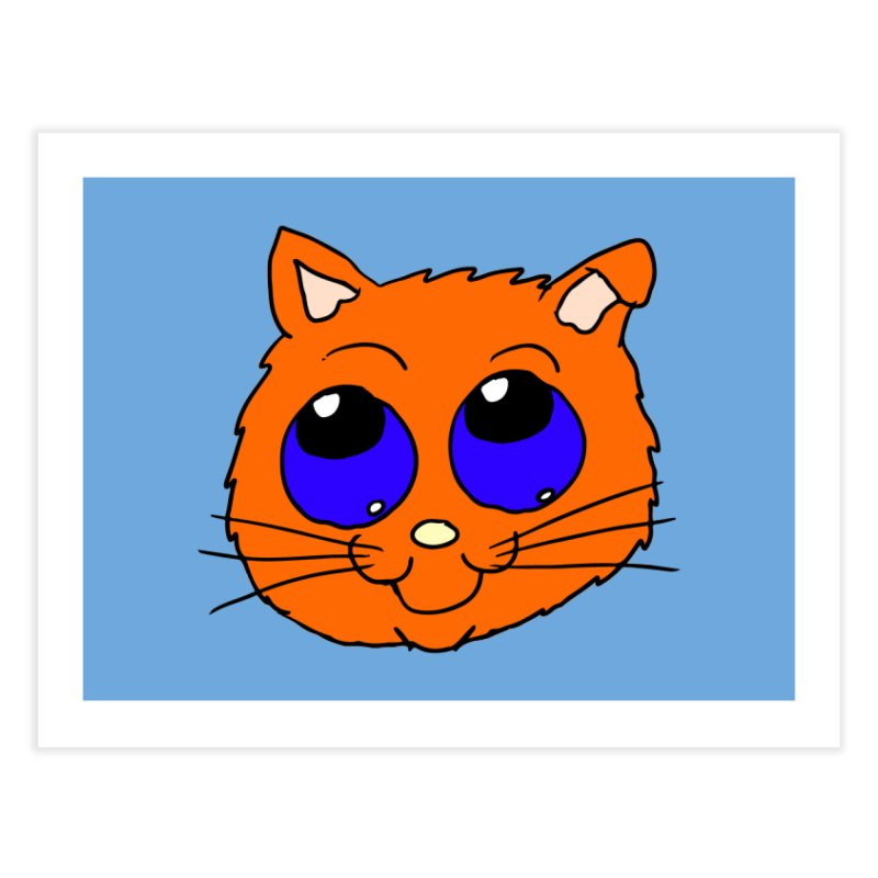 Orange Cute kitty Head Home Fine Art Print by ericallen's Artist Shop