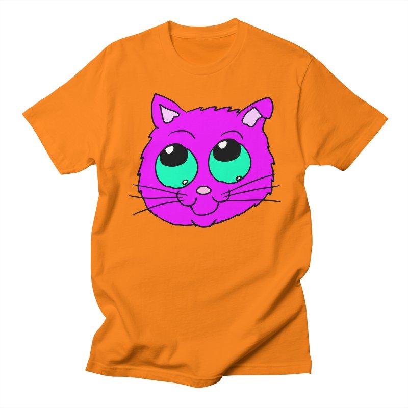 Green eyed Purple kitty head Women's Unisex T-Shirt by ericallen's Artist Shop