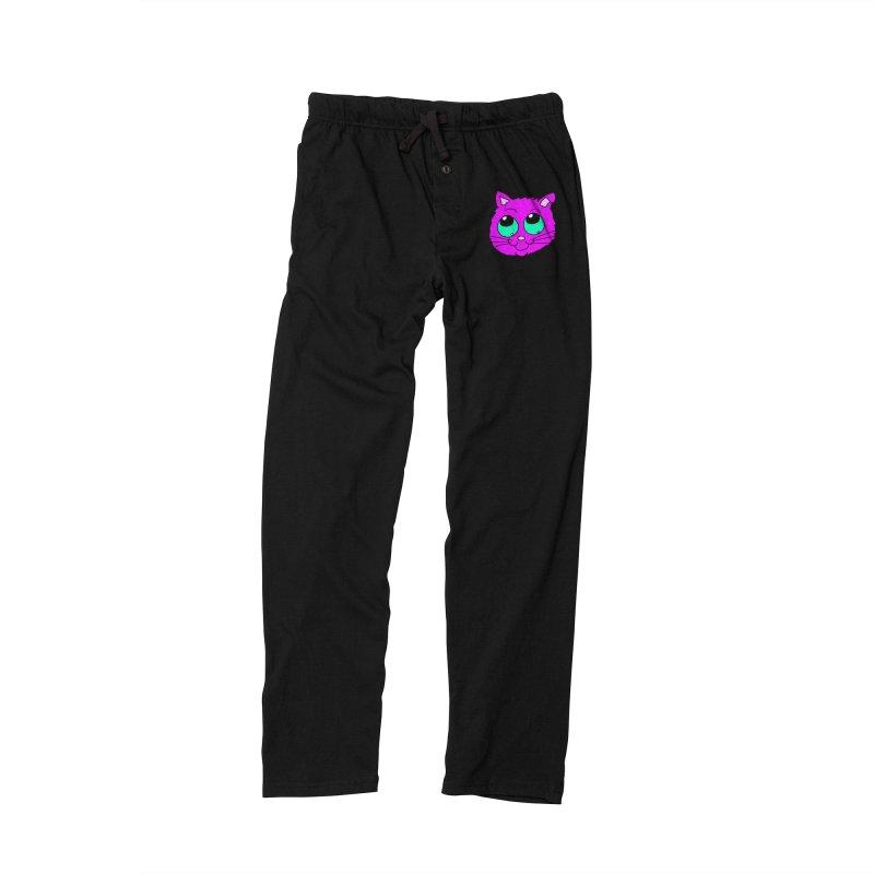 Green eyed Purple kitty head Men's Lounge Pants by ericallen's Artist Shop