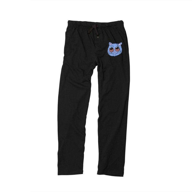 Blue Kitty head Men's Lounge Pants by ericallen's Artist Shop