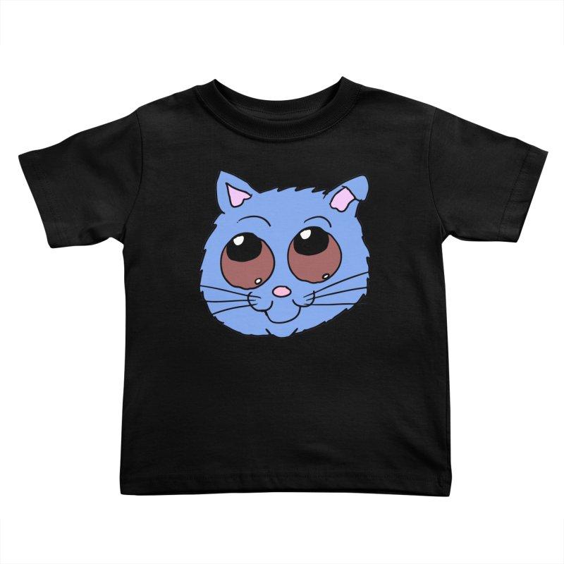 Blue Kitty head Kids Toddler T-Shirt by ericallen's Artist Shop