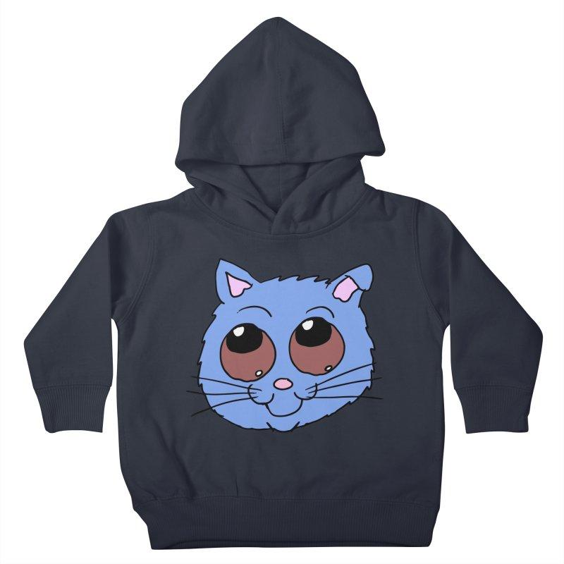 Blue Kitty head Kids Toddler Pullover Hoody by ericallen's Artist Shop
