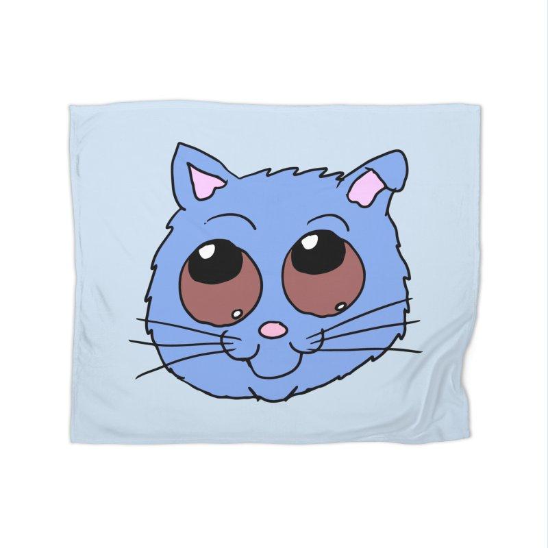 Blue Kitty head Home Blanket by ericallen's Artist Shop