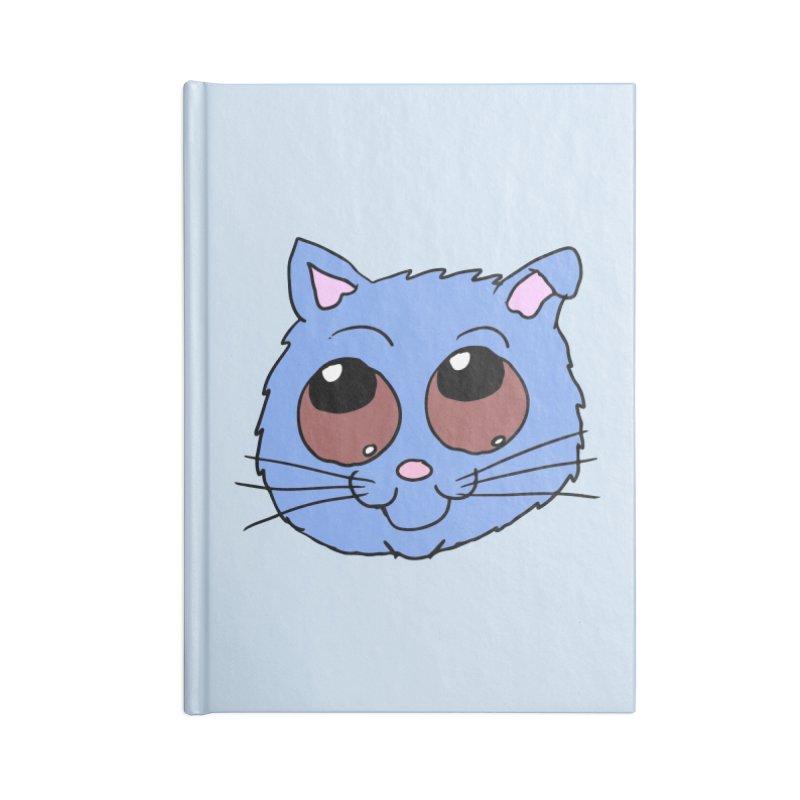 Blue Kitty head Accessories Notebook by ericallen's Artist Shop