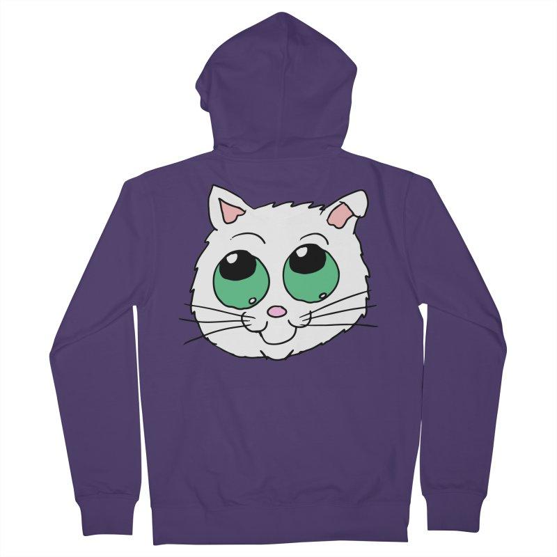 Green eyed Kitty Women's Zip-Up Hoody by ericallen's Artist Shop