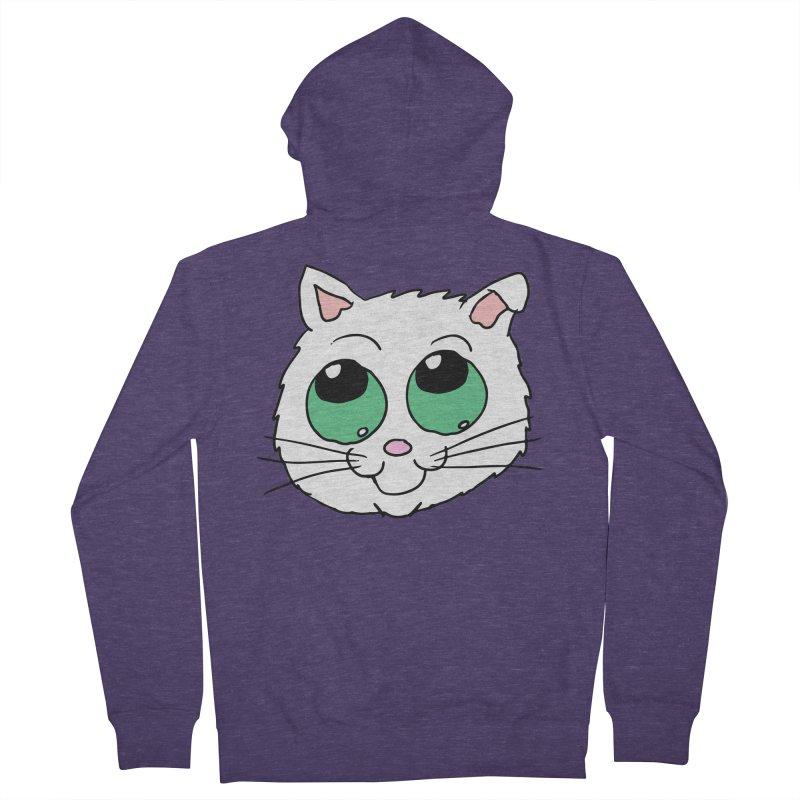 Green eyed Kitty Men's Zip-Up Hoody by ericallen's Artist Shop
