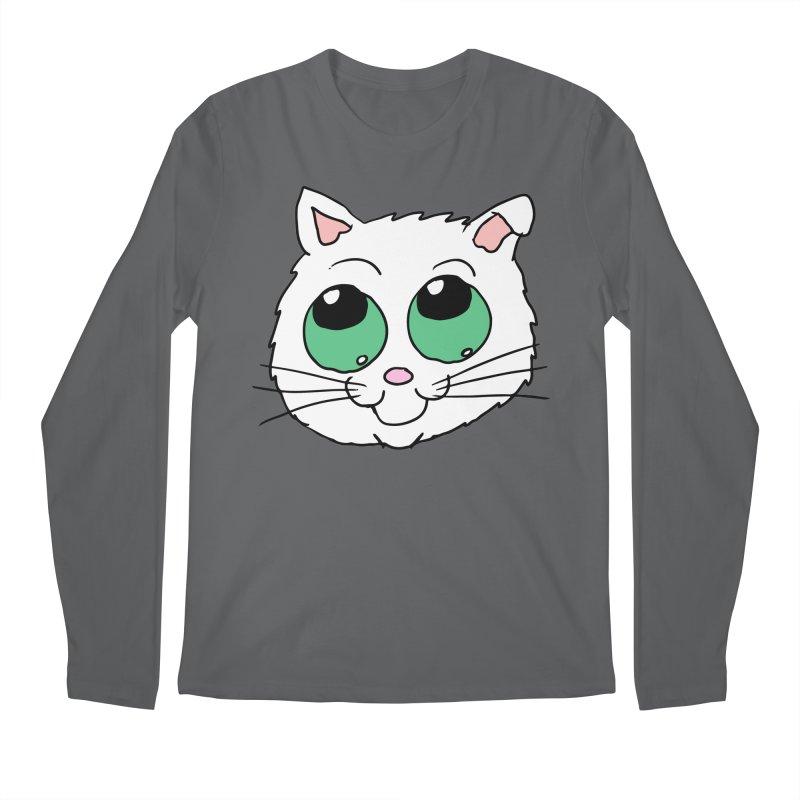 Green eyed Kitty Men's Longsleeve T-Shirt by ericallen's Artist Shop