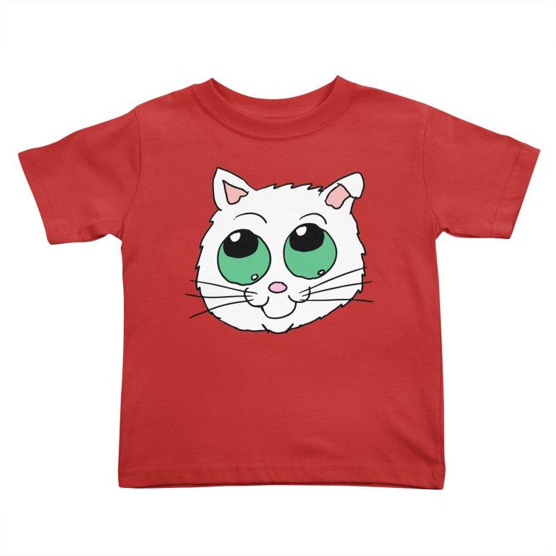 Green eyed Kitty Kids Toddler T-Shirt by ericallen's Artist Shop