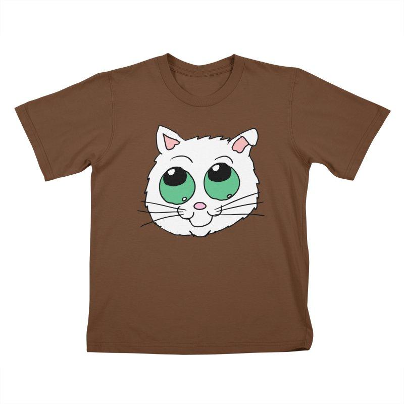 Green eyed Kitty Kids T-Shirt by ericallen's Artist Shop