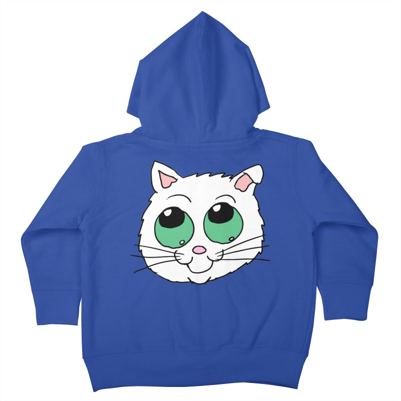 Green eyed Kitty Kids Toddler Zip-Up Hoody by ericallen's Artist Shop